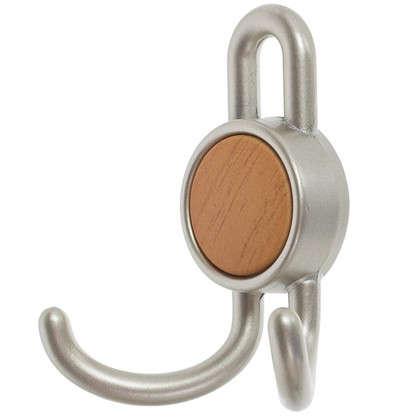 Крючок 15.101 56 кг цвет матовый никель/бук