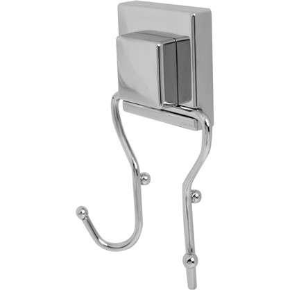 Крючок двойной Sensea Smart Lock на присоске цвет хром