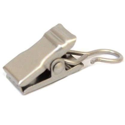 Крючок-зажим для штор 3 см цвет матовая сталь
