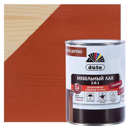 Лак для мебели алкидный цвет красное дерево 0.9 л