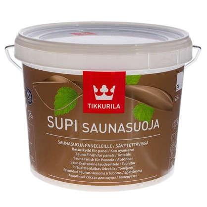 Лак для защиты бани акриловый полуматовый Tikkurila Supi Saunasuoja 2.7 л