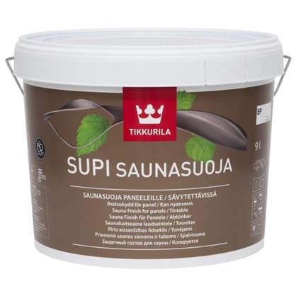 Лак для защиты бани акриловый полуматовый Tikkurila Supi Saunasuoja 9 л