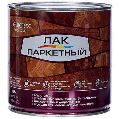 Лак паркеный Eurotex алкидно-уретановый полуматовый бесцветный 0.75 л