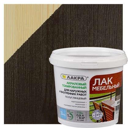 Лак тонированный для мебели Лакра цвет венге 0.9 л