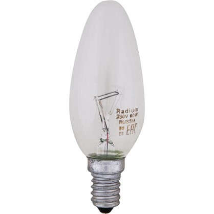 Лампа накаливания Radium Свеча E14 60 Вт прозрачная колба