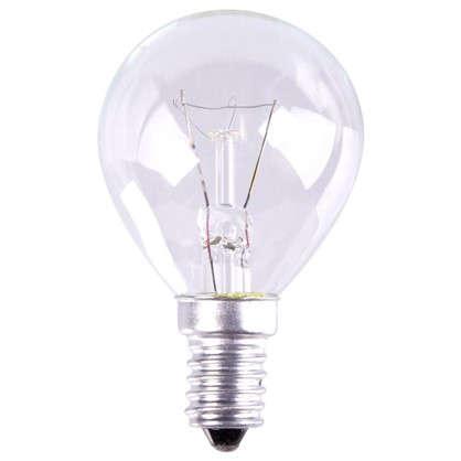 Лампа накаливания шар E14 25 Вт свет теплый белый