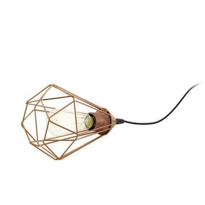 Лампа настольная 1хE27х60 Вт цвет медь