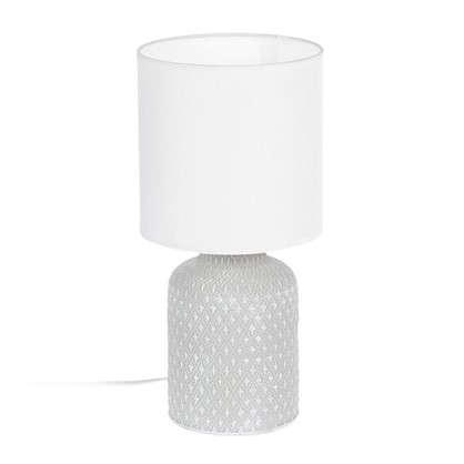 Лампа настольная Bellariva 1X40 ВтхE14 цвет кремовый/белый