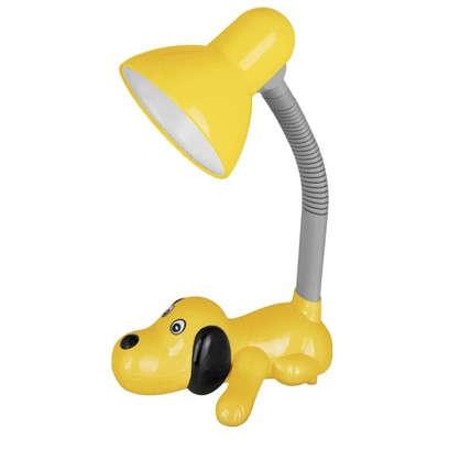 Лампа настольная Собачка E27 40 Вт цвет желтый