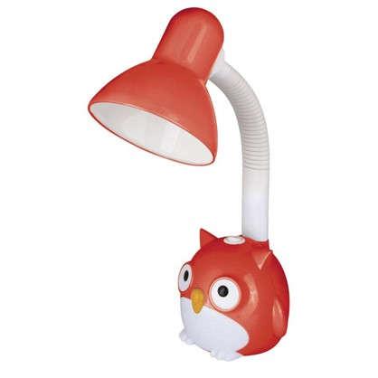 Лампа настольная Сова E27 40 Вт цвет красный