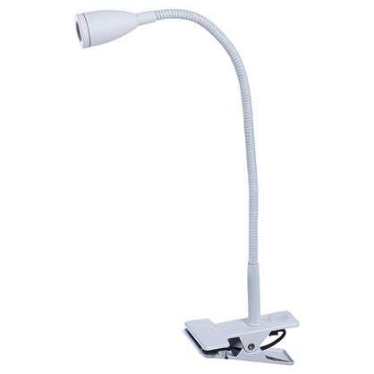 Лампа настольная светодиодная Gao на прищепке 1х3 Вт 130 Лм металл цвет белый