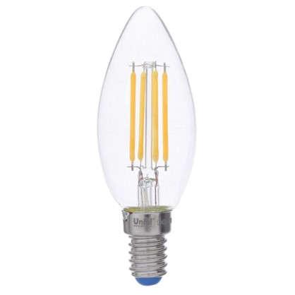 Светодиодная лампа филаментная Airdim форма свеча E14 5 Вт 500 Лм свет теплый