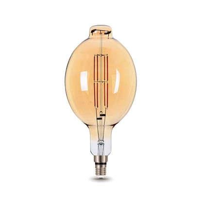 Лампа светодиодная Gauss Е27 8 Вт овал прямой свет теплый