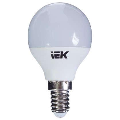 Светодиодная лампа IEK G45 Шар E14 7 Вт 4000К свет холодный белый