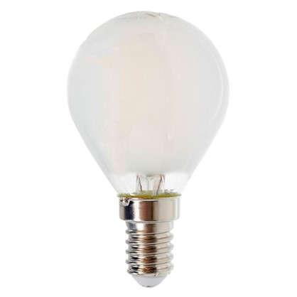 Светодиодная лампа Osram шар E14 4 Вт 470 Лм свет теплый белый матовая