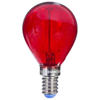 Светодиодная лампа Uniel Color шар E14 5 Вт свет красный