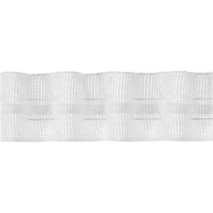 Шторная лента 25 мм цвет матовый белый