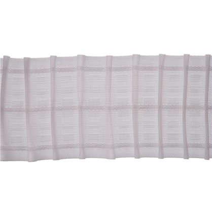 Шторная лента параллельная 67 мм цвет белый