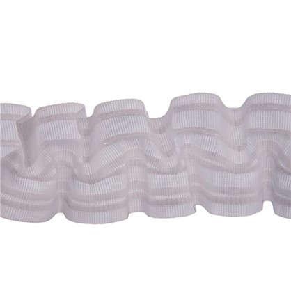 Шторная лента вафельная 62 мм цвет белый