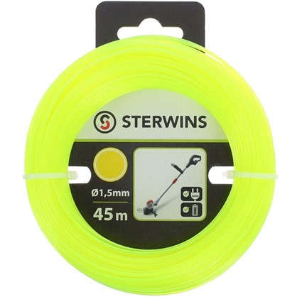 Леска для триммера Sterwins 1.5 мм х 45 м круглая цвет жёлтый