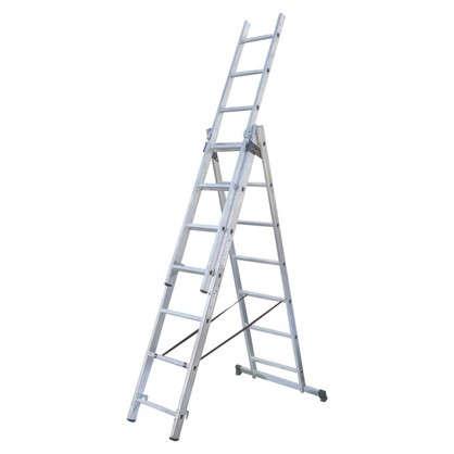 Лестница раскладная трёхсекционная Standers 8 ступеней