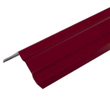 Лист ветровой с полиэстеровым покрытием 2 м цвет красный