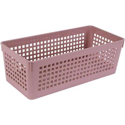 Лоток 270х130х90 мм 2.4 л полипропилен цвет розовый