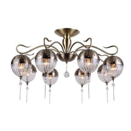 Люстра Faberge 594/8PL 8хЕ14х40 Вт цвет античная бронза