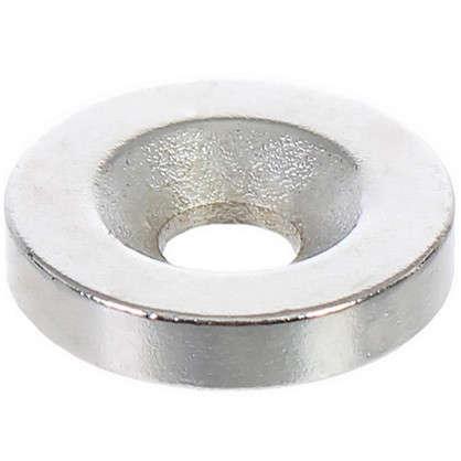 Магнит 15 мм с отверстием цвет никель