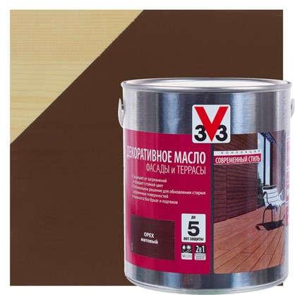 Масло для террас V33 цвет орех 2.5 л