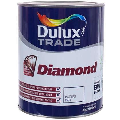 Матовая краска для стен Dulux Trade Diamond база BW 1 л