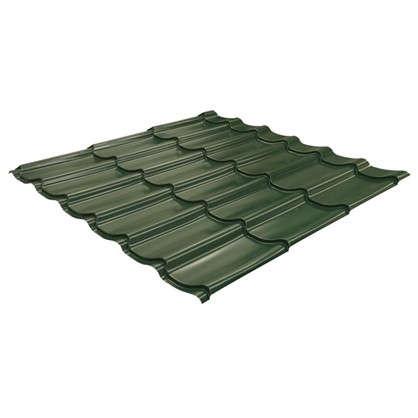 Металлочерепица 116х117м с полиэстеровым покрытием 04 мм цвет зеленый