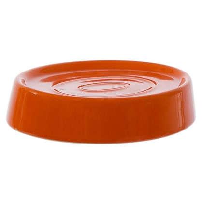 Мыльница настольная Veta керамика цвет оранжевый