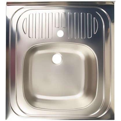 Мойка накладная Eurodomo 60x60 см цвет матовый хром нержавеющая сталь