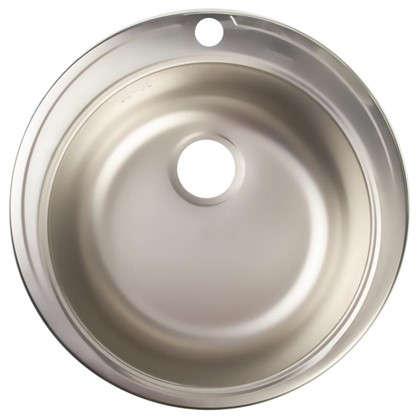 Мойка врезная Eurodomo 51см цвет хром нержавеющая сталь