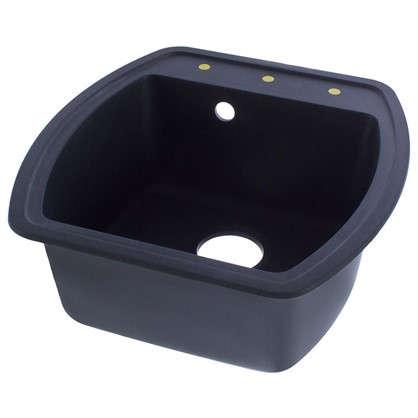 Мойка врезная Florentina Нире-480 51x48 см цвет черный композит/кварц