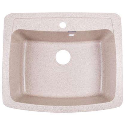 Мойка врезная Granfest GF-S 60.5х51 см цвет песок мрамор