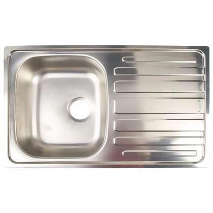 Мойка врезная Scala 45 49х78 см цвет матовый хром нержавеющая сталь