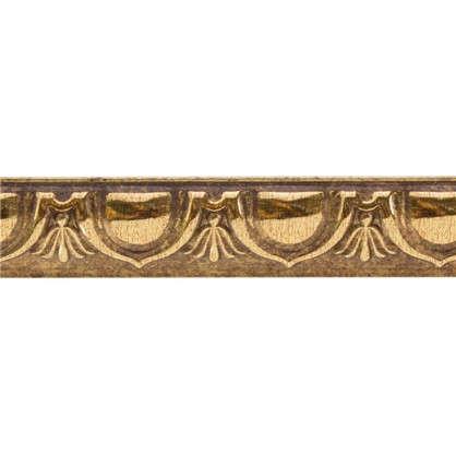 Молдинг настенный 101D-58 интерьерный 200х3.3 см цвет золотой