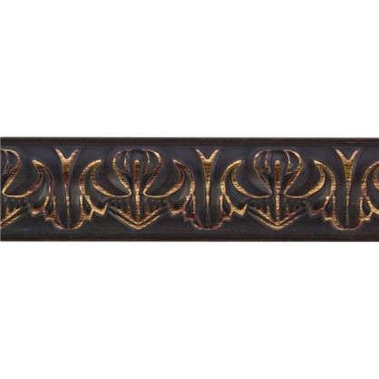Молдинг настенный 101В-966 интерьерный 200х3.3 см цвет коричневый