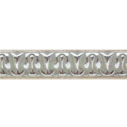 Молдинг настенный 103С-59 интерьерный 200х2 см цвет серебристый