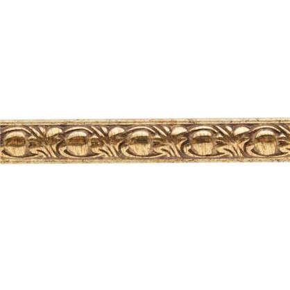 Молдинг настенный 130C-58 интерьерный 200х1.5 см цвет золотой