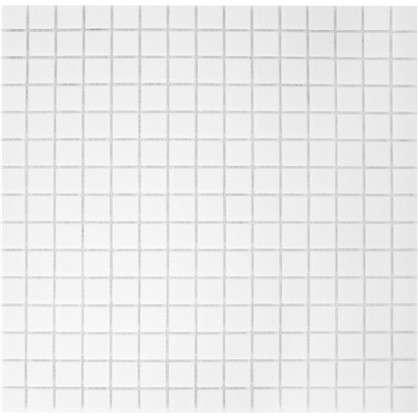 Мозаика 32.7х32.7 см 4 мм стекломасса цвет белый