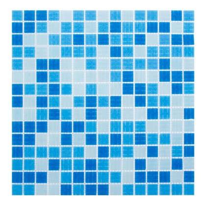 Мозаика 32.7х32.7 см цвет голубой