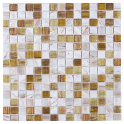 Мозаика 32.7х32.7 см стекломасса цвет бежевый