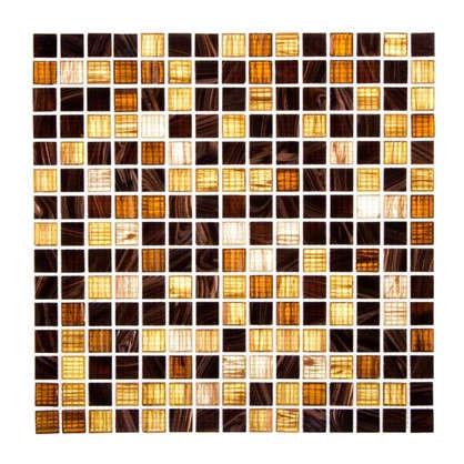 Мозаика 32.7х32.7 см стекломасса цвет коричневый