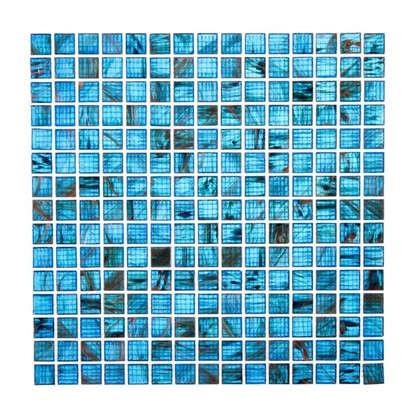Мозаика 32.7х32.7 см стекломасса цвет синий