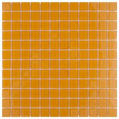 Мозаика Artens 30х30 см стекло цвет оранжевый