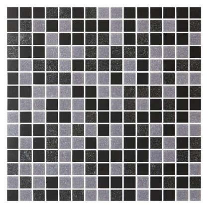 Мозаика Artens 32.7х32.7 см стекло цвет черный/серый
