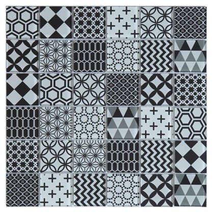 Мозаика Artens Shaker 30х30 см стекло цвет черный/белый
